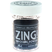American Crafts Zing! Opaque Embossing Powder 1 Oz-Black Wholesale Bulk
