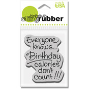 Stampendous Cling Rubber Stamp-Birthday Calories