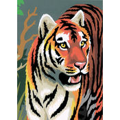 "Mini Paint By Number Kit 5""X7""-Tigers/Junior"