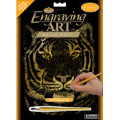 "Gold Foil Engraving Art Kit 8""X10""-Bengal Tiger"