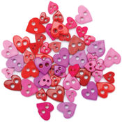 Favorite Findings Mini Shaped Buttons-Pretty Heart