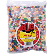 Pony Beads 9mm 1 Pound/Pkg-Opaque Multi Wholesale Bulk
