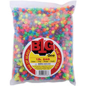 Pony Beads 9mm 1 Pound/Pkg-Neon Multi