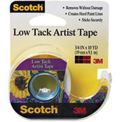 "Scotch Low Tack Artist Tape-.75""X10 Yards"
