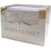 Box Of Cards & Envelopes-Linen A2 Size