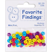 Favorite Findings Basic Mini Buttons 75/Pkg-Fun