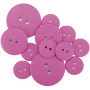 Favorite Findings Matte Buttons 11/Pkg-Raspberry P