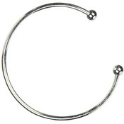 Trinkettes Metal Bangle 1/Pkg-Silver Wholesale Bulk