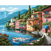 Paint By Number Kit 20&quot;X16&quot;-Lakeside Village