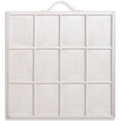 Artist Printer's Tray - Holds 12 Photos -White