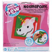 Unicorn Learn To Sew Needlepoint Kit