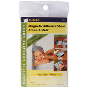 "Adhesive Magnetic Sheet-4""x6"" 4/Pkg"
