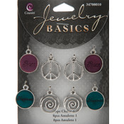 Jewelry Basics Charm #1 Connectors,  8-Pack