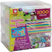 Fibre Craft 3-In-1! Foam Kit-Butterflies & Dragons Wholesale Bulk