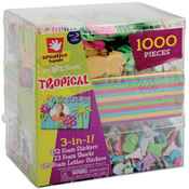 Fibre Craft 3-In-1! Foam Kit-Tropical Wholesale Bulk