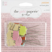 Advantus Jubilee Artisan Pins 18/Pkg-6 Words/3 Each Wholesale Bulk