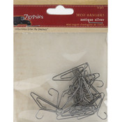 Mini Hangers 12/Pkg-Antique Silver