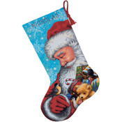 Santa &amp;amp; Toys Stocking Needlepoint Kit