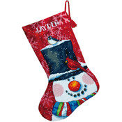Snowman &amp;amp; Friends Stocking Needlepoint Kit