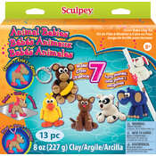 Sculpey Activity Kit-Animal Babies