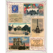 "Sticker Sheet 7""X9""-Paris"