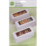 Wilton Rectangle Box 8'X3.25'X3.25' 3/Pkg-White Wholesale Bulk
