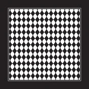 Domestic Bandanna 22&quot;X22&quot;-Black/White Diamond