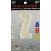 Joy S.A., Inc. Iron-On White Distressed Letter 2.5'-Z Wholesale Bulk