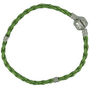 Uptown Collection Leather Bracelet 1/Pkg-Lime 7.5""