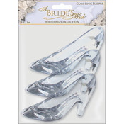 Glass-Look Acrylic Slipper 3.5&quot; 3/Pkg