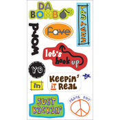 Autumn Leaves 3D Stickers-Things U Say 11pc w/Foil Wholesale Bulk