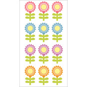 Autumn Leaves 3-D Stickers-Flowers 12pc w/Glitter Wholesale Bulk