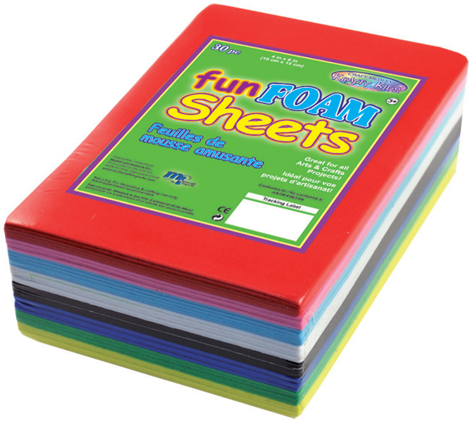 ''Krafty Kids Fun Foam Sheets - 4'''' x 6'''' [1042267]''