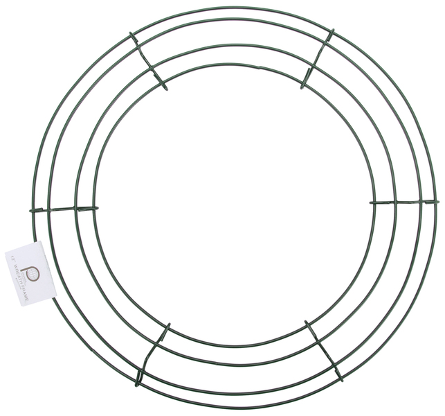 wholesale wire wreath frame 12 green sku 654360 dollardays - Wire Wreath Frame Wholesale