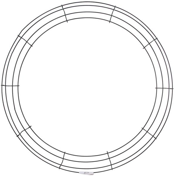 ''Wire Wreath Frame 20''''-Green [654361]''