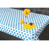 N. F. String & Son, Inc. 300 Blue Polka Dot Table Cover Wholesale Bulk