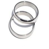 Men'S 316L Surgical Stainless Steel Simple Narrow 3 mm Band Ring -Size 7