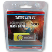 Yellow 2GB Flash Drive