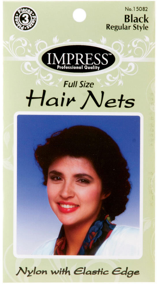 Wholesale Impress 3 Piece Black Hair Nets 144 Ct Case Sku 1870435