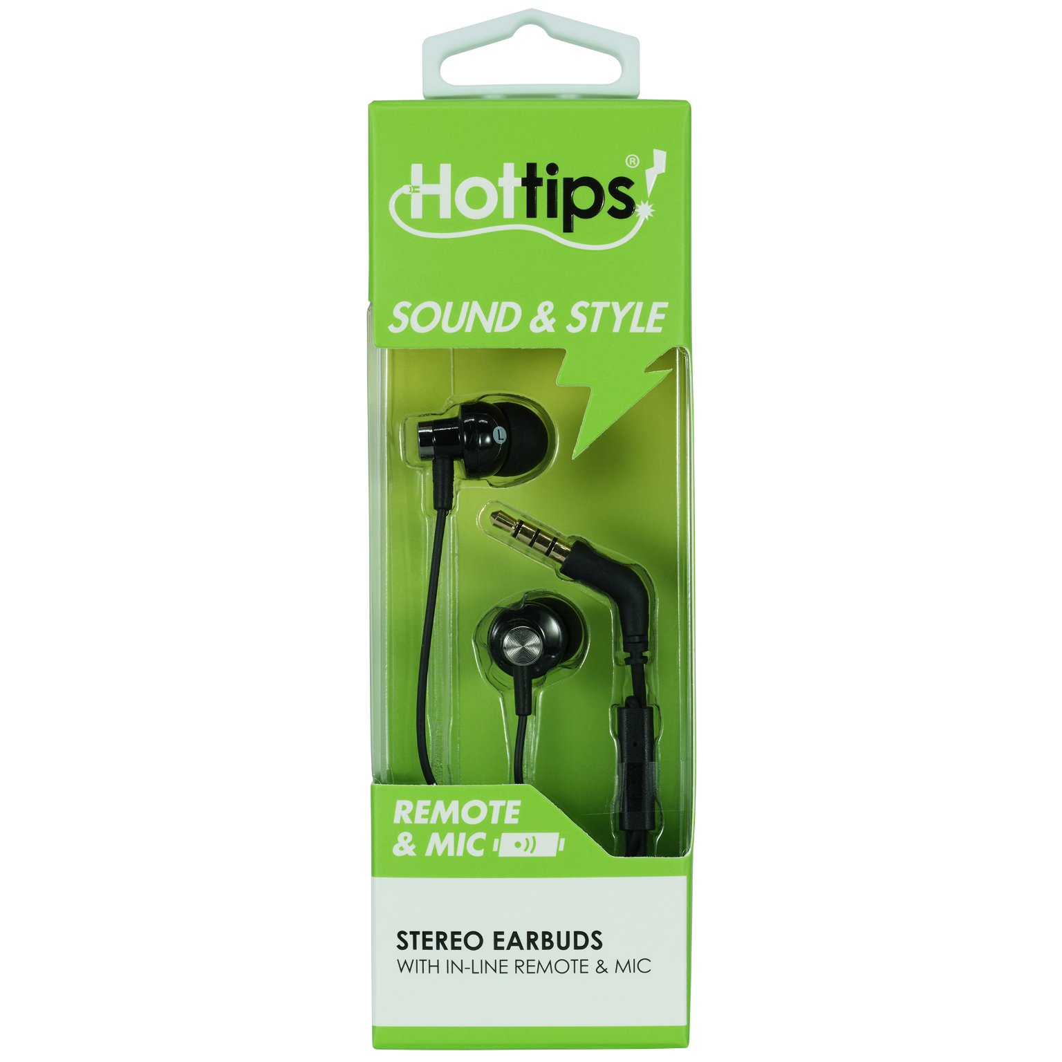 Hottips High Sound Quality Earbuds with Mic- Case of 48 (1876668)