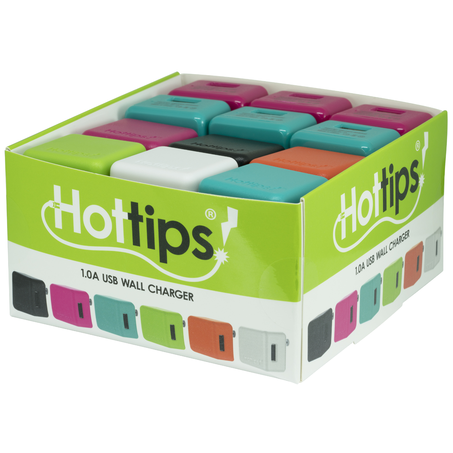 Hottips Tray Pack 1.0A Wall Charger- 24-count [1876770]