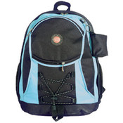 "17"" Two Tone Backpack with bungee"