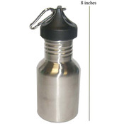 Stainless Steel Water Bottle, 350ML - Case Pack 24 Bottles Wholesale Bulk