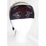 Heart with Wings Rhinestone Head Wrap