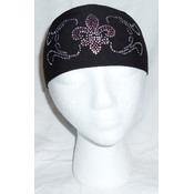 Light Purple Fleur-De-Lis Rhinestone Headwrap