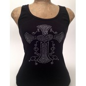 Open Road Rhinestone Cross Tank, Large Wholesale Bulk