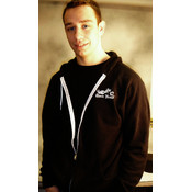 Open Road Zip-Up Black/White Hoodies, Small