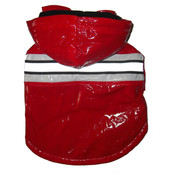Red - Reflecta Glow Pvc Raincoat - MD
