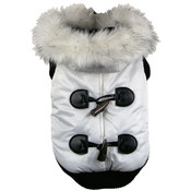 White Winter White Fashion Parka - MD Dog