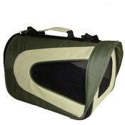 Green Folding Zippered Sporty Mesh Pet Carrier -MD